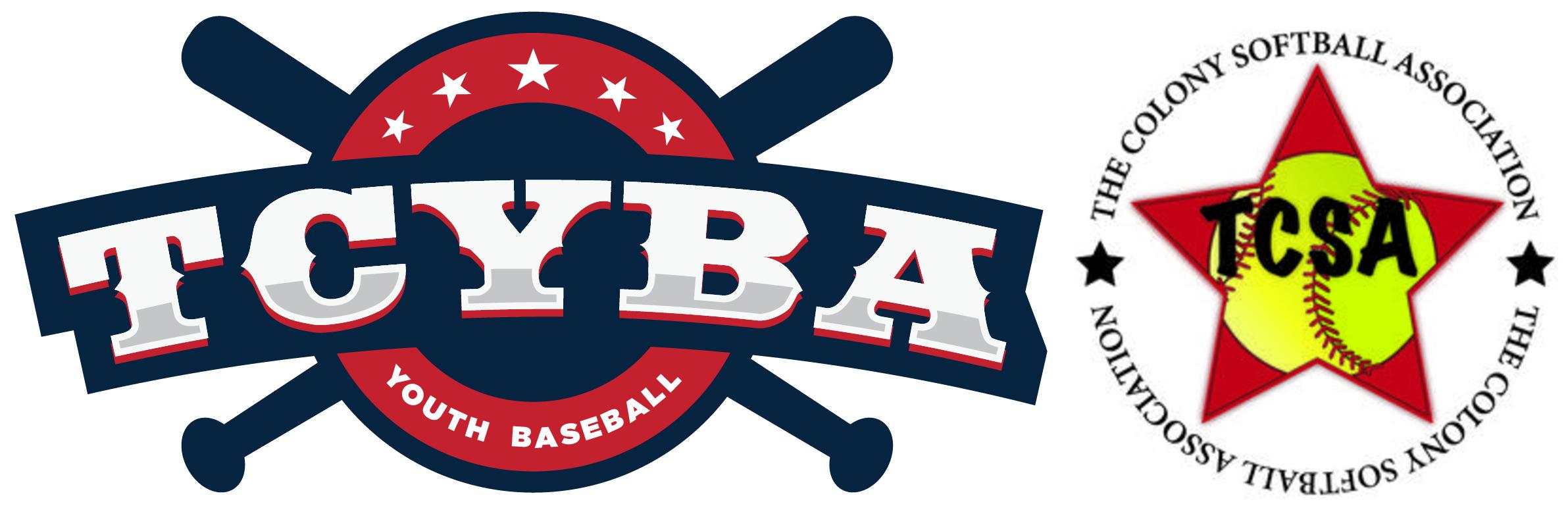 TCYBA baseball and softball logos